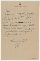 Letter to Dad from Frederick C. Jackson