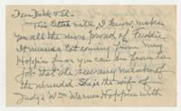 Letter to Dick & El from Seth Low Pierrepont