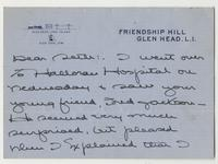 Letter to Seth Low Pierrepont from May Hoppin