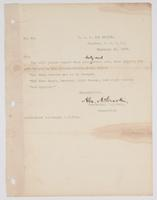 Order from U.S. Navy Commander for R. H. Leigh to send a report of duties and orders