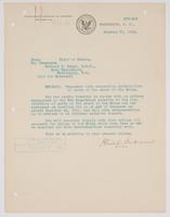 Order from the Bureau of Navigation assigning Richard H. Leigh temporary duty of the wreck of the Maine