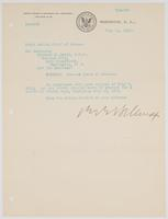 Order from the Bureau of Navigation granting Richard H. Leigh a thirty-day leave of absence