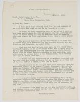 Letter to Lewis Coxe from Richard H. Leigh