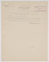 Letter addressing the award of gunnery trophy to R. H. Leigh