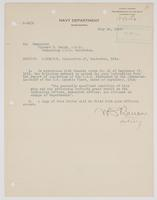 Order from the Navy Department regarding the inspection of the Galveston