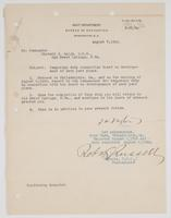 Order from the Navy Department requesting Richard H. Leigh's temporary duty of navy yard plans