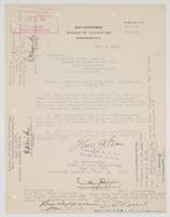 Order from the Navy Department assigning Richard H. Leigh to temporary duty at the Navy Yard, Philadelphia and Norfolk