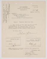Order from the Navy Department assigning Richard H. Leigh temporary additional duty