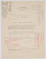 Order from Navy Department assigning Richard H. Leigh temporary additional duty