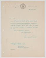 Order from the Bureau of Navigation enclosing Richard H. Leigh's commission