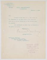 Order from the Navy Department for Richard H. Leigh to proceed to New York, N.Y.