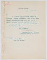 Order from the Rear Admiral for Richard H. Leigh to take charge of the Electrical Class at the Navy Yard