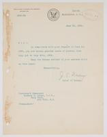 Order from the Bureau of Navigation granting Richard H. Leigh a month-long leave of absence
