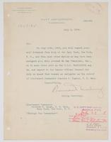 Order from the Navy Department detaching Richard H. Leigh from duty at the Navy Yard, New York, N.Y.