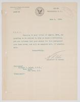 Order from the Bureau of Navigation granting Richard H. Leigh's request to be ordered to duty on board a battleship