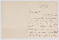 Letter to Leigh from Chief of Staff L. H. Oliver