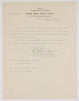 Order from the Rear Admiral requesting R. H. Leigh to submit a report