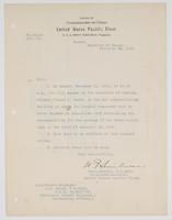 Order from the Rear Admiral for R. H. Leigh to report to the Collector of Customs