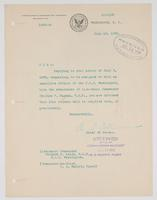 Order from the Bureau of Navigation granting Richard H. Leigh his request to be assigned to duty as executive officer of the U.S.S. Washington