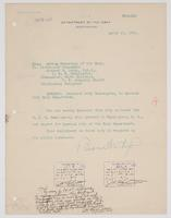 Order from the Navy Department detaching Richard H. Leigh from duty on board the U.S.S. Washington