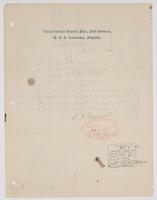 Order from the Commander Fifth Division detaching Richard H. Leigh from duty on board the U.S.S. Washington