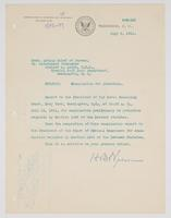 Order from the Bureau of Navigation for Richard H. Leigh to report to the President of the Naval Examining Board
