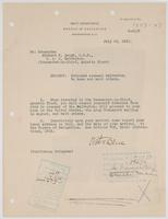 Order from the Navy Department detaching Richard H. Leigh from the Galveston