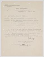 Correspondence between R. H. Leigh and Bureau of Navigation regarding small arms target practice