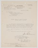 Letter appointing Richard H. Leigh member of a board to conduct battery tests of the Arizona