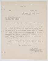 Letter to Frederick M. Ryder from E. W. Eberle