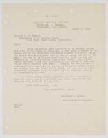 Letter to E. W. Eberle from Frederick M. Ryder