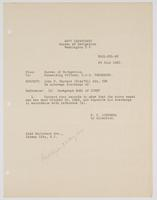 Order from the Navy Department to correct John F. Tarrant's records
