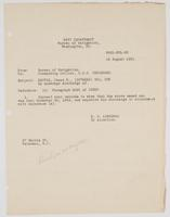 Order from the Navy Department to correct James E. Denver's records