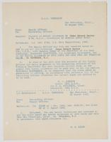 Correspondence between H. W. Johnson and R. H. Leigh about travel allowance payment to James Edward Denver