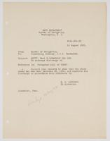 Order from the Navy Department to correct Earl B. Scott's records