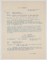 Correspondence between H. W. Johnson and R. H. Leigh about travel allowance payment to Earl Brown Scott