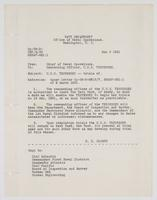 Order from the Navy Department authorizing the commanding officer of the U.S.S. Tennessee to leave the Navy Yard