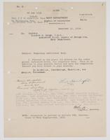 Order from the Navy Department assigning Richard H. Leigh temporary additional duty in Tennessee