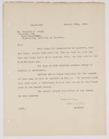 Acknowledgement of Richard H. Leigh's request for commutation of quarters