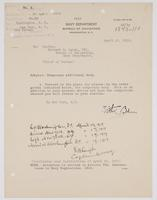 Order from the Navy Department assigning Richard H. Leigh temporary additional duty in New York, N.Y.