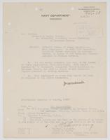 Order from the Navy Department detaching Richard H. Leigh from duty in the Bureau of Steam Engineering