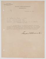 Order from the Navy Department assigning R. H. Leigh temporary special duty with Assistant T. J. Collins