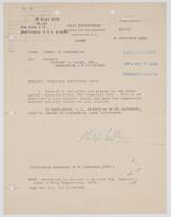 Order from the Bureau of Navigation for Richard H. Leigh to proceed to Washington, D.C. for temporary additional duty