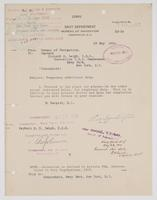 Order from the Bureau of Navigation for Richard H. Leigh to proceed to Newport, R.I. for temporary additional duty