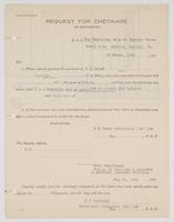 Request for Checkage against the account of R. H. Leigh