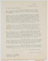 Letter to Governor A. H. Roberts from U.S. Navy Captain