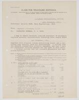 Claim for Traveling Expenses from R. H. Leigh