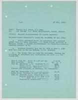 Richard H. Leigh's request for reimbursement for travel expenses