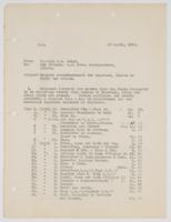 Richard H. Leigh's request for reimbursement for expenses, London to Corfu and return