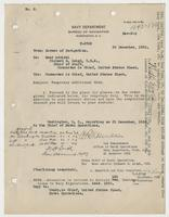 Order from the Navy Department assigning Richard H. Leigh temporary additional duty in Washington, D.C.